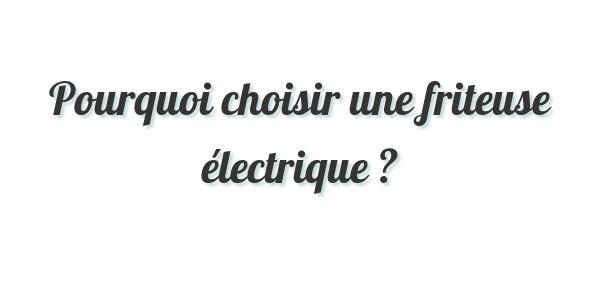 Pourquoi choisir une friteuse électrique ?
